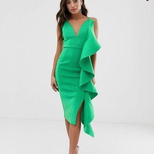 NWT Lavish Alice Scuba Midi Ruffle Dress US 14